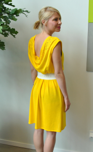 Yellow Dress from re:new cell's recycled fibres