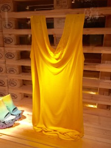 The yellow dress at Liljevalchs